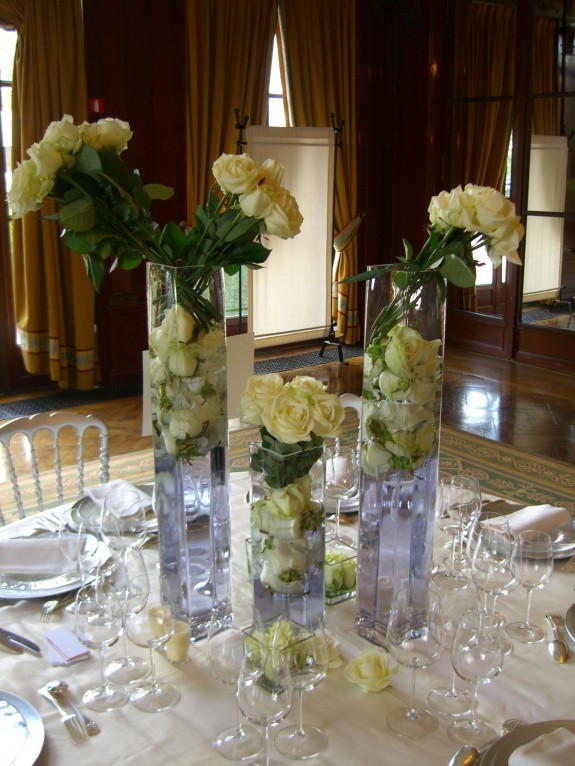 mariage roses blanches 2