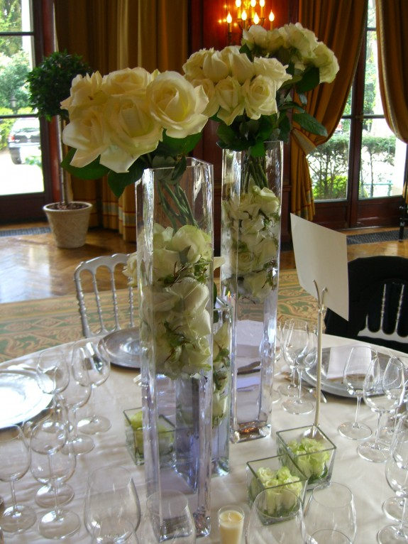 Mariage roses blanches
